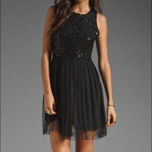 NWT Jack BB Dakota Black Sequin Tulle Dress 4